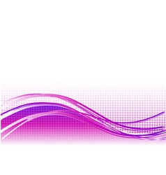 purple wave background with lines vector image