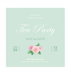 save the date invitation card wedding template vector image vector image