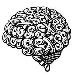sex brain vector image vector image