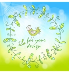 spring background with a simple floral pattern vector image vector image