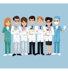 team health care hospital doctor and nurse vector image vector image