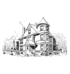 The asbury typical vintage engraving vector