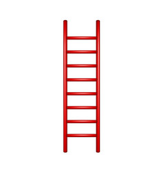 wooden ladder in red design vector image vector image