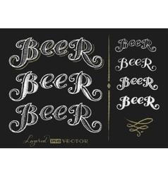 Word Beer vector image vector image