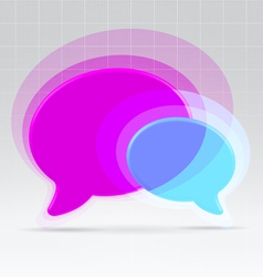 Balloons communication concept vector image vector image