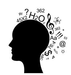 head information vector image