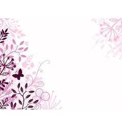 Pink and black floral background backdrop vector