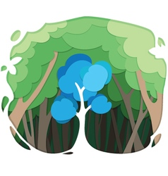 tree paper style vector image vector image