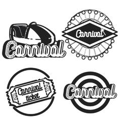 Vintage Amusement park emblems vector image