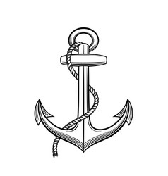 anchor in vintage style vector image