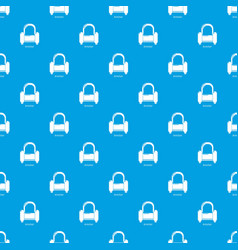 armchair pattern seamless blue vector image