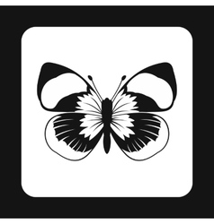 Butterfly with long antennae icon simple style vector