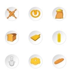 Cakes icons set cartoon style vector