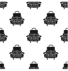 camping backpack pattern simple silhouette vector image