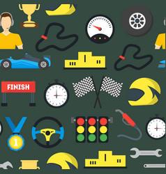 cartoon car racing background pattern vector image