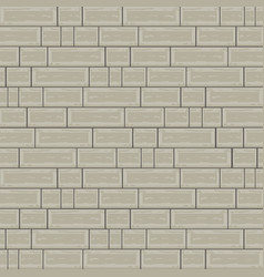 Cemented brick background with block architecture vector
