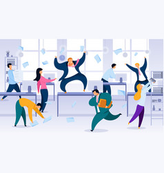 Chaos in business company office concept vector