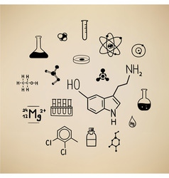 Chemical symbols vector image