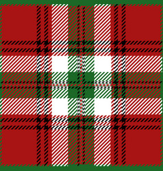 Christmas tartan plaid pattern vector