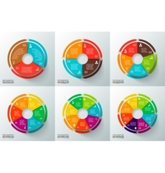 circles with arrows for infographic vector image