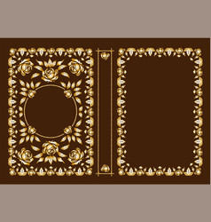 Classic book covers decorative antique fra vector