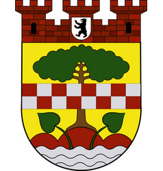 Coat of arms of zehlendorf in berlin germany vector