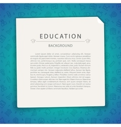 Colorful Education Background with Copy Space vector