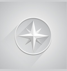 compass on white background vector image