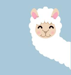 Cute lama alpaca vector