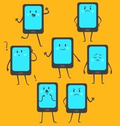 Cute Phone Set vector image