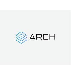 data center logo database hosting emblem digital vector image