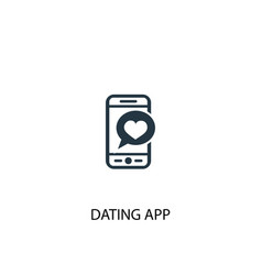 Dating app icon simple element vector