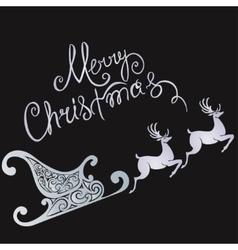 deer merry Christmas poster template vector image