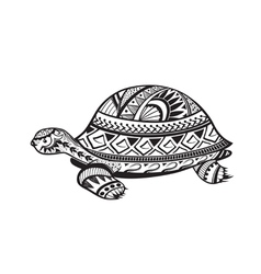Ethnic ornamented tortoise vector image