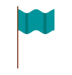 flag template clean horizontal waving isolated vector image