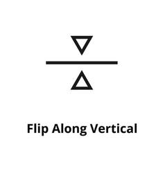 flip along vertical line icon vector image