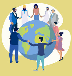 Friendship peoples entire planet vector