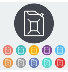 Gas Containers icon vector image