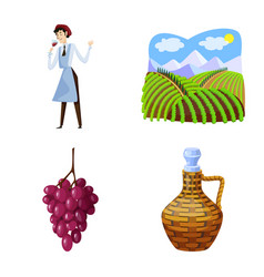 Grape and winery icon vector