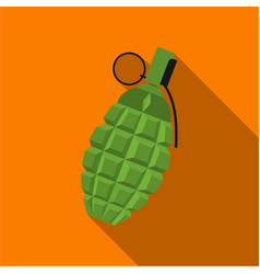 Grenade icon flate single weapon icon from the vector