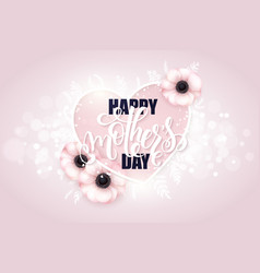Hand drawn mothers day greeting card with vector