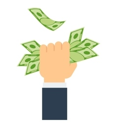 hand holds money vector image