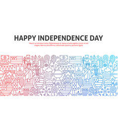 happy independence day outline concept vector image