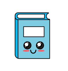 Kawaii cute happy close book vector
