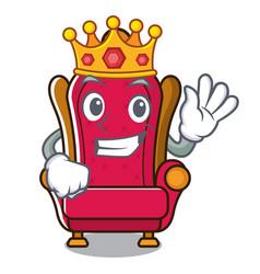 King king throne mascot cartoon vector