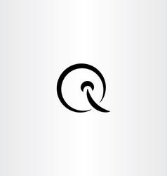 letter q logo black design element symbol vector image