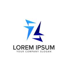 letter z modern logo design concept template vector image