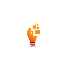 Lightbulb idea technology company logo vector