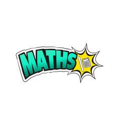 logo for maths school subject vector image