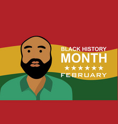 Man black history month vector